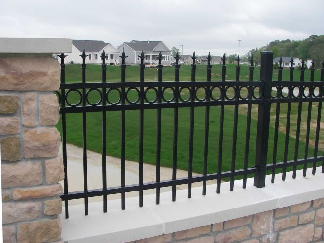 metal fence design. Ameristar Echelon Residential Fencing Metal Fence Design R