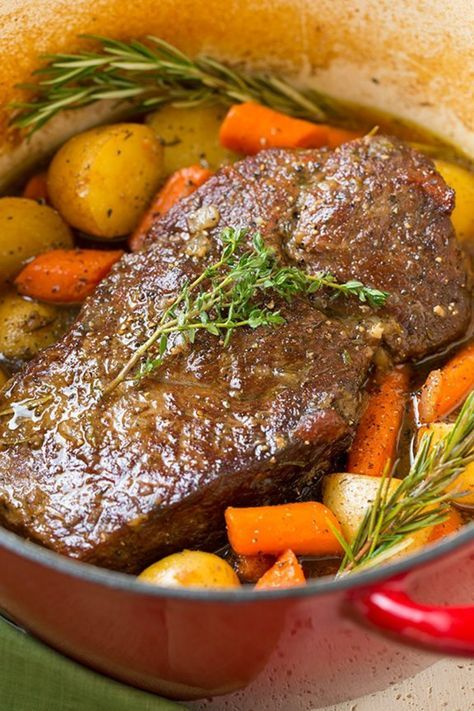 Classic Pot Roast with Potatoes and Carrots - Cook
