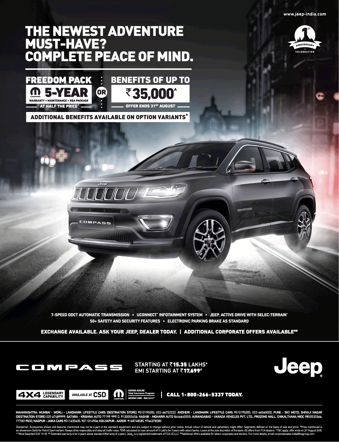 Jeep Compass The Newest Adventure Ad Mirror Mumbai Check Out More