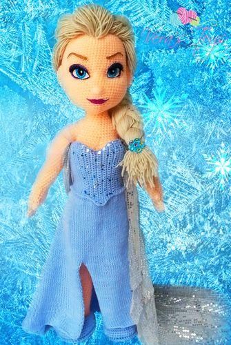 Amigurumi 40cm karlar Kraliçesi Elsa Frozen Organik Oyuncak Bebek ...   500x335
