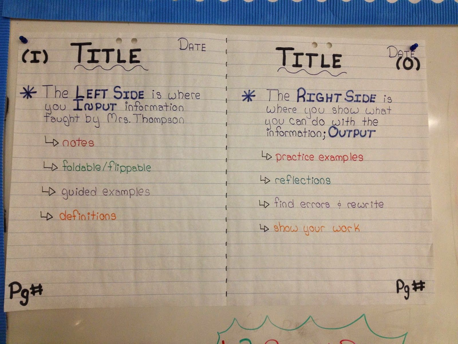 hight resolution of Miss L's Whole Brain Teaching: Interactive Notebooks (I.N.B) in Grade 8:  Front Matter \u0026 Rational Numbers   Interactive notebooks