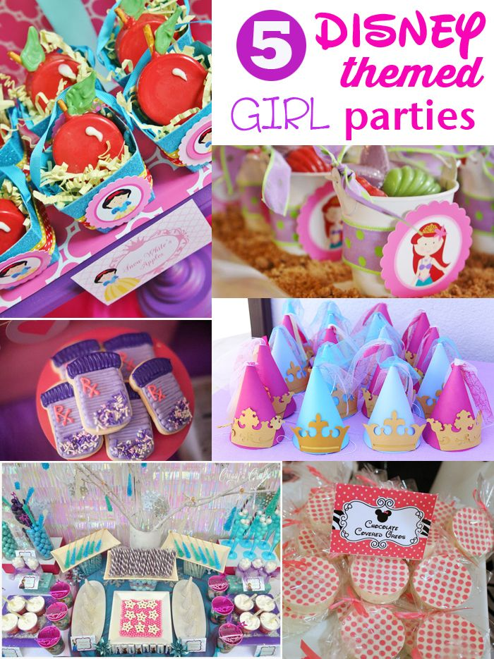 5 Disney Themed Parties For Girls Party Ideas Party