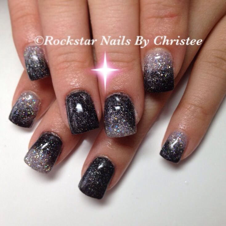 Rockstar Nails By Christee Acrylicnails Glitter Fade