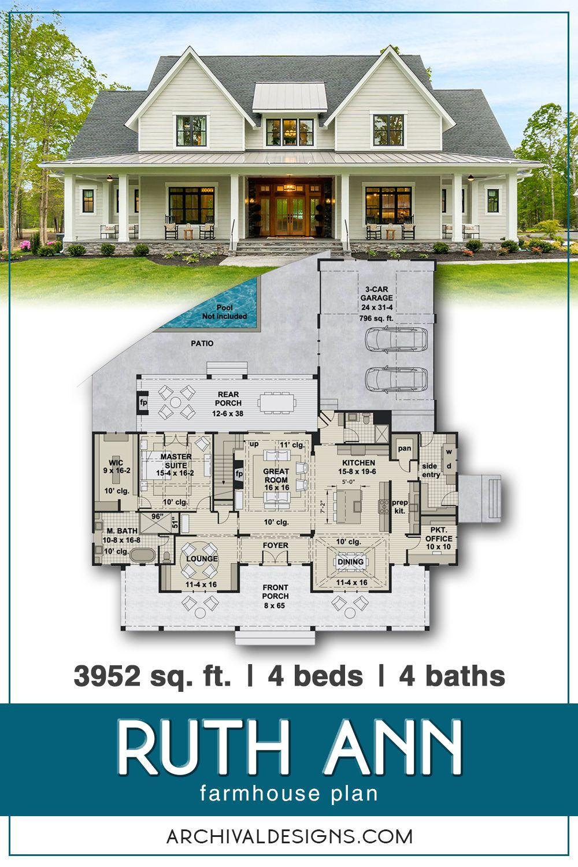 Ruth Ann House Plan In 2020 House Plans Farmhouse Pool House Plans Craftsman House Plans