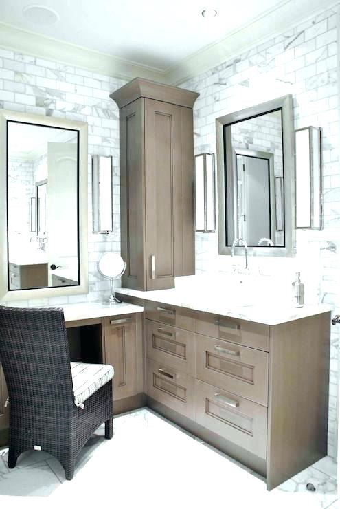 bathroom vanity with makeup counter Google Search