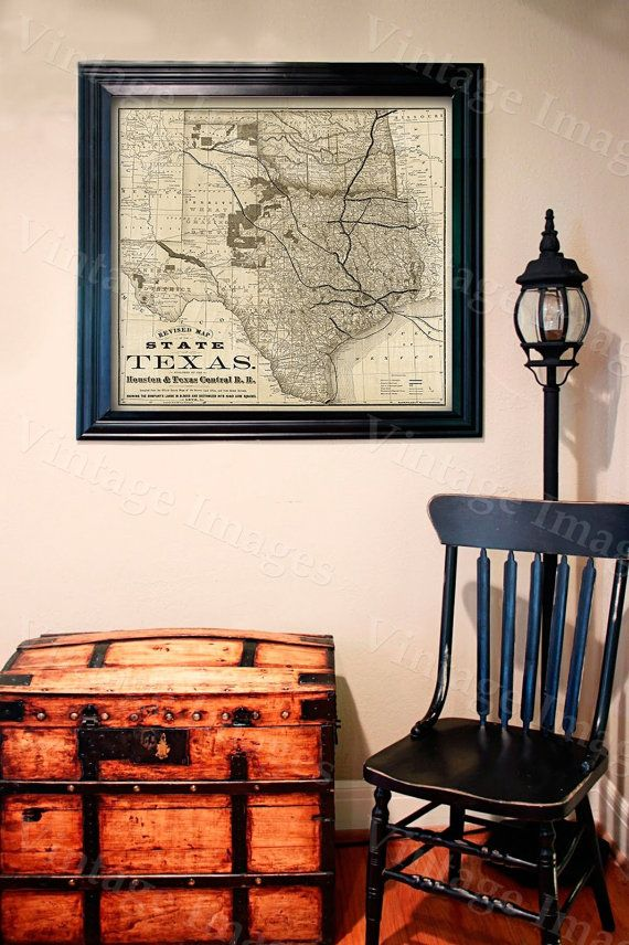 Old Map Of Texas Vintage Historical Wall Map Antique Interior - Historical wall maps