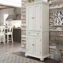Best Seaside Kitchen Pantry Distressed White Crosley 400 x 300