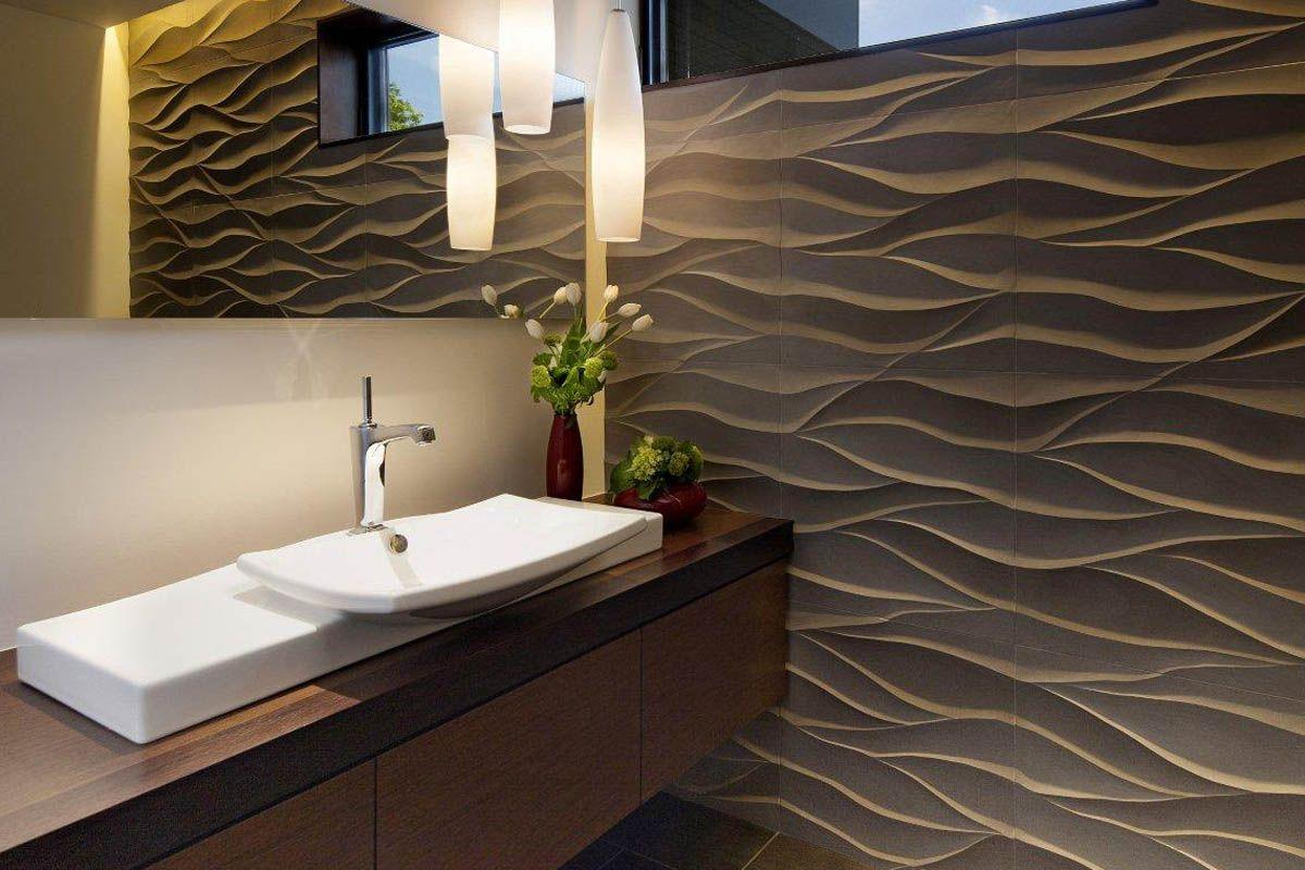 Contemporary Homes : Elegant Guest Bathroom : Mosaic