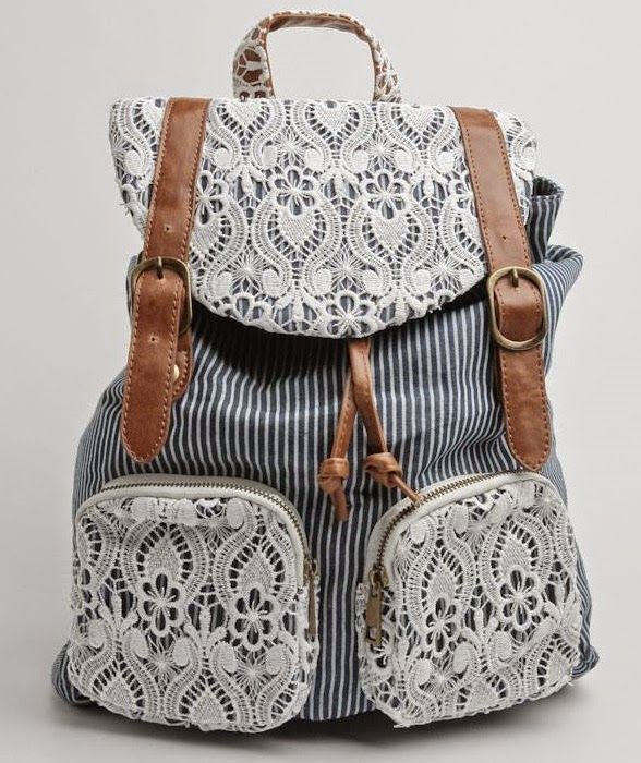 at Ruche // Bayview stripe backpack