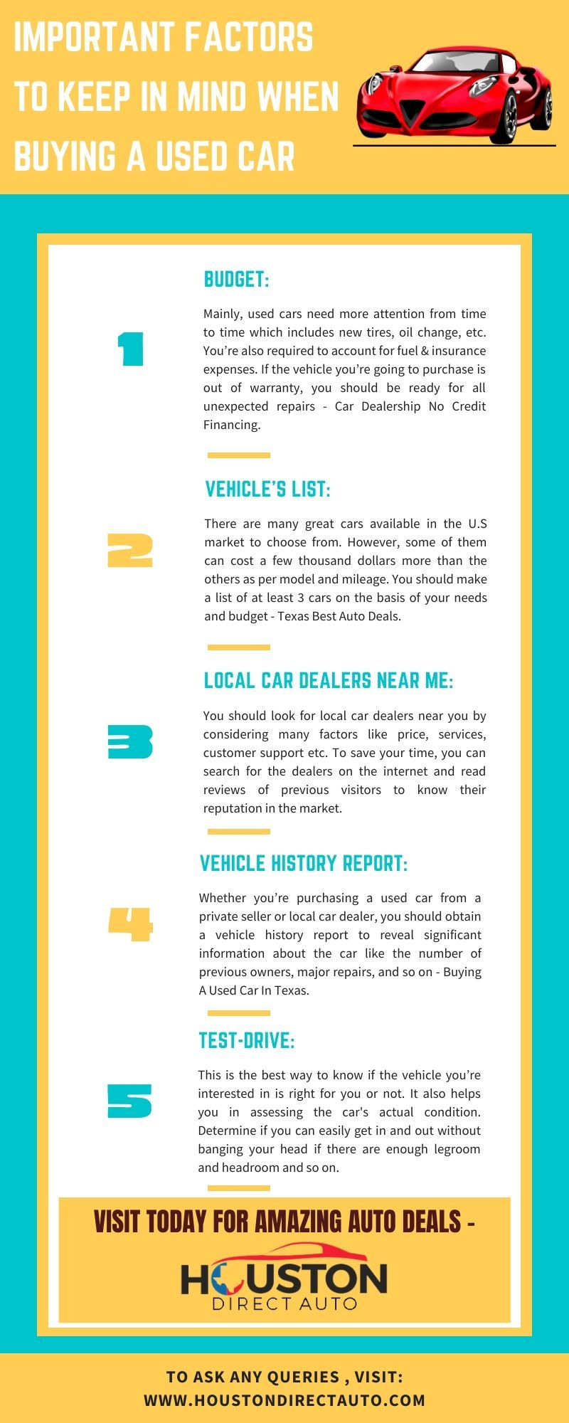 Important Factors To Keep In Mind When Buying A Used Car