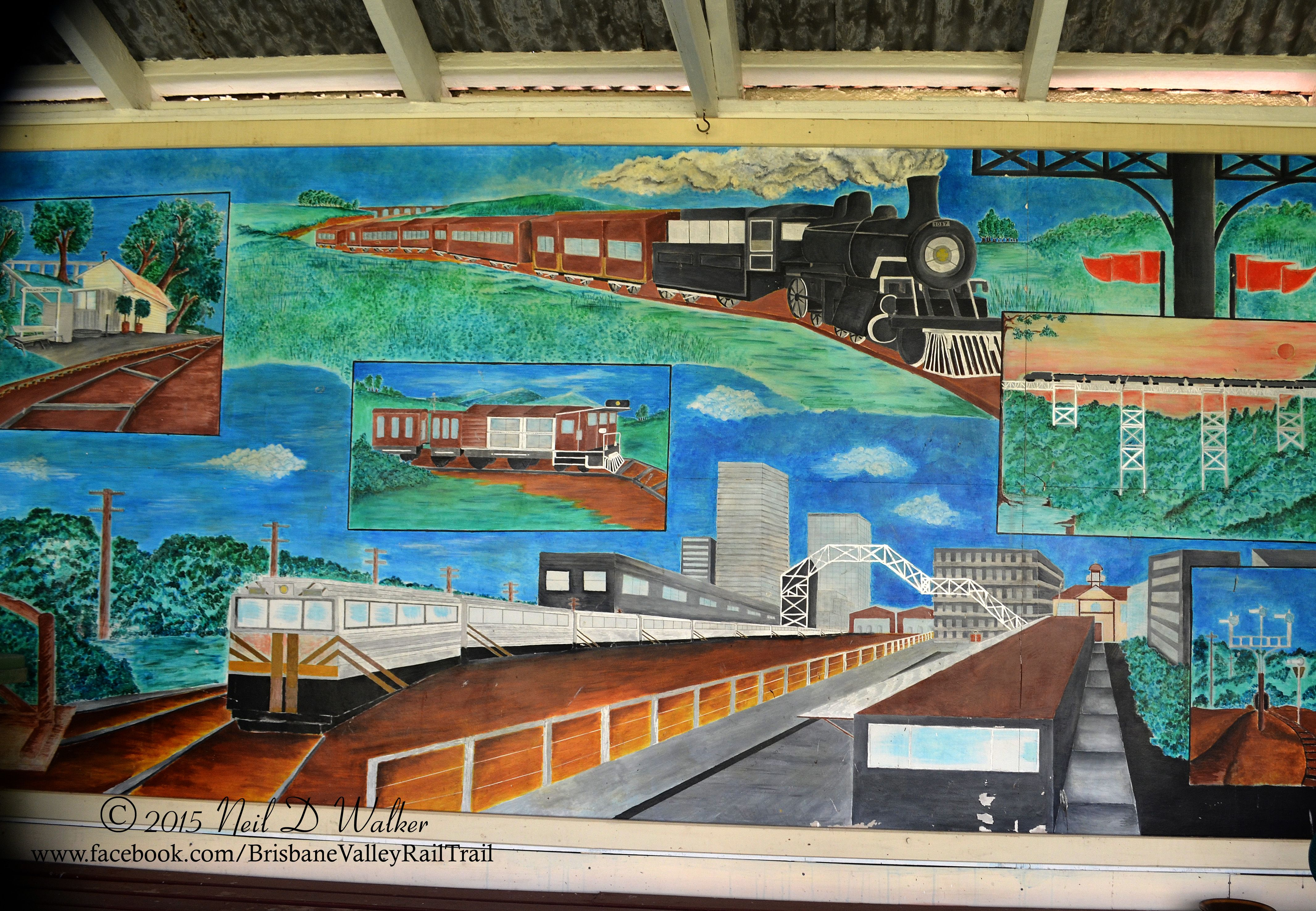The Mural at Lowood Railway Station | House styles ...