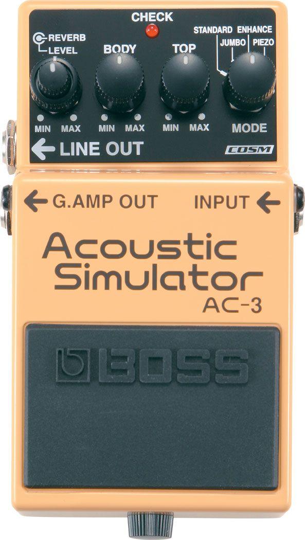 Boss Kembali Mengeluarkan Satu Lagi Pedal Kompak Otentik Boss Ac 3 Untuk Para Musisi Yang Bepergian Dengan Perlengkap Guitar Pedals Guitar Effects Acoustic