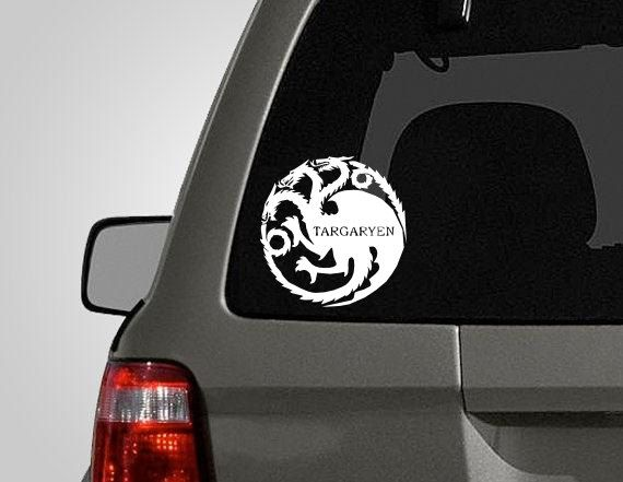 Game of Thrones House Targaryen inspired Decal Vinyl Car Window Sticker ANY SIZE