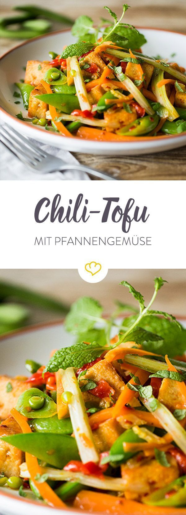 Photo of Chili tofu with colorful pan vegetables