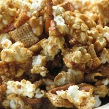 Caramel Corn Snack Mix  #