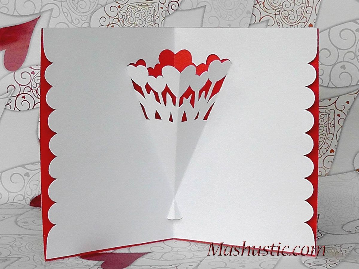 Pop Up Card With A Flower Bouquet Diy Mashustic Com Flower Bouquet Diy Pop Up Valentine Cards Free Valentine Cards