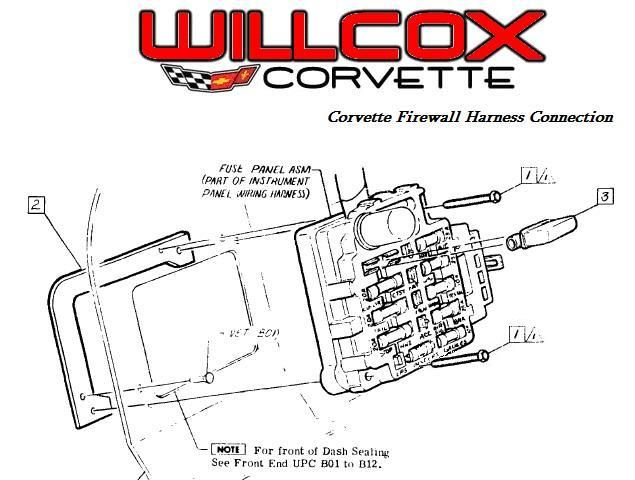 1968-1982-corvette-wire-harness-firewall-connection-interior-side | corvette,  1976 corvette, corvette c3  pinterest