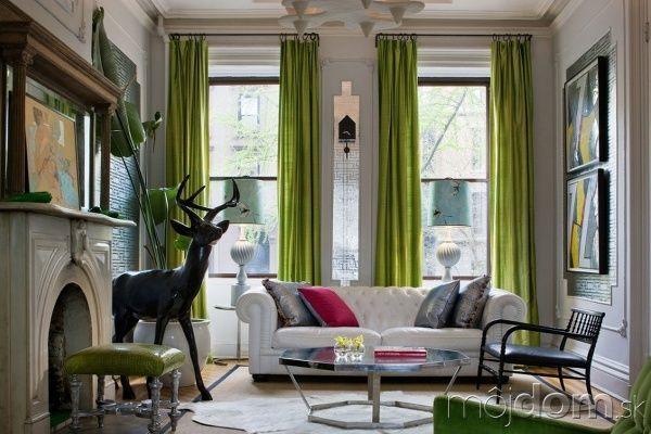 Inšpirácie pre zelené obývacie izby | Mojdom.sk
