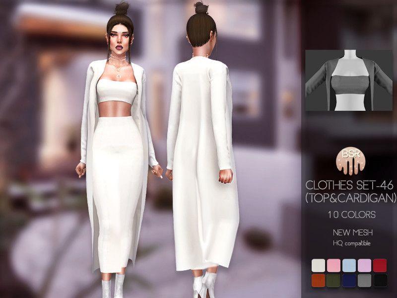 busra-tr Sims — busra-tr's Clothes SET-46 (TOP&CARDIGAN) BD179