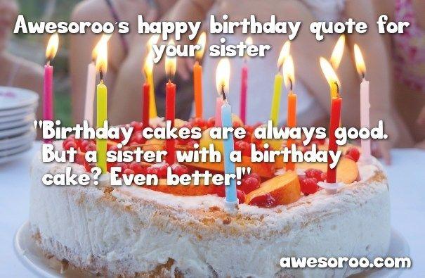 Birthday Cake For Sister Birthday Quotes Wishes Happy Birthday