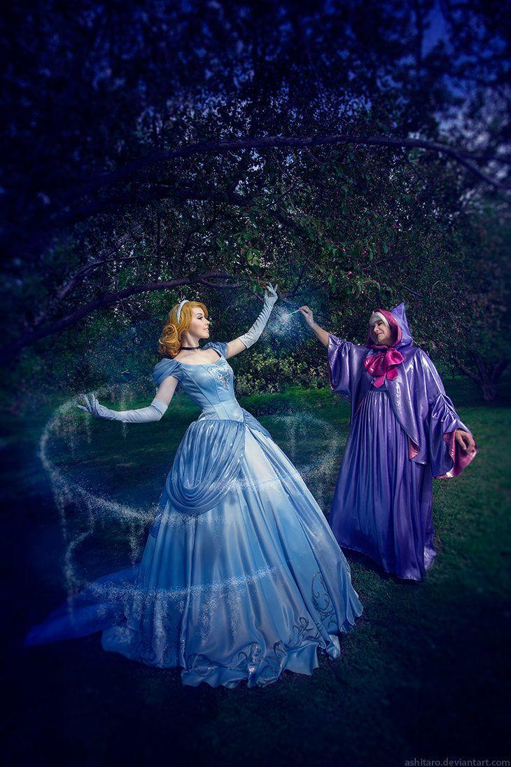 Cinderella And Fairy Godmother By Kikolondon Deviantart Com On