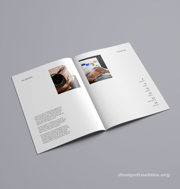 free indesign portfolio template free indesign templates