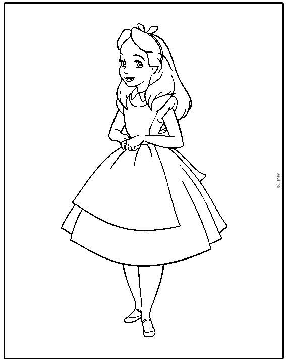 Free Printable Alice In Wonderland Coloring Pages For Kids Alice In Wonderland Flowers Disney Coloring Pages Coloring Books