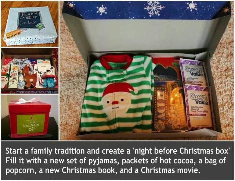 Christmas holiday tradition idea.