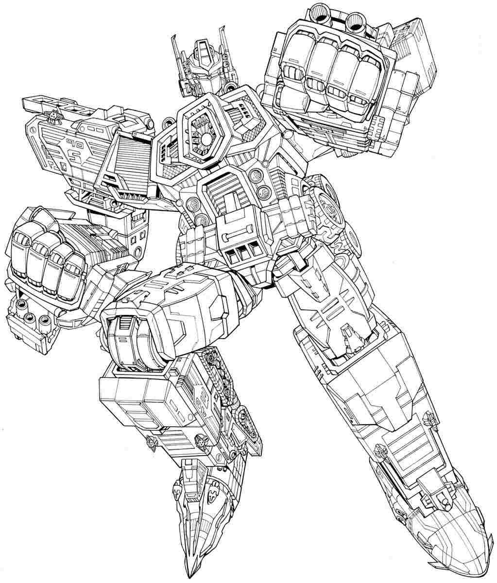 transformer coloring pages free - photo#34