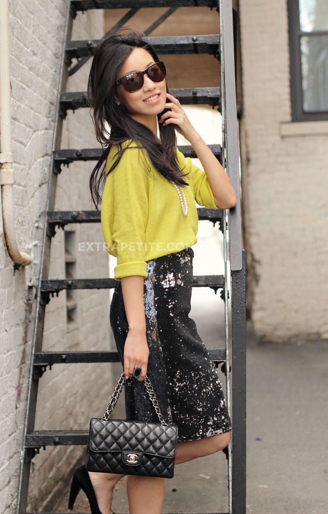 e14c0ea18 Something Borrowed: Sequin Pencil Skirt + Neon   fashion pt 1 ...