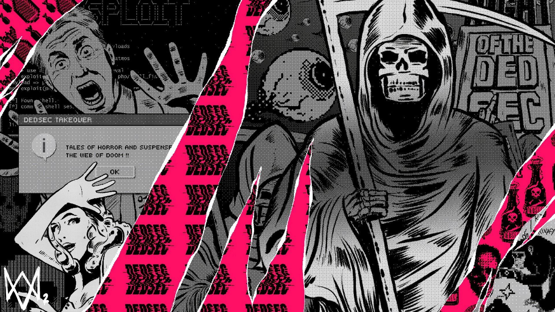Watch Dogs 2 Grim Reaper Dedsec Hack Wallpaper Marvel Videoigry