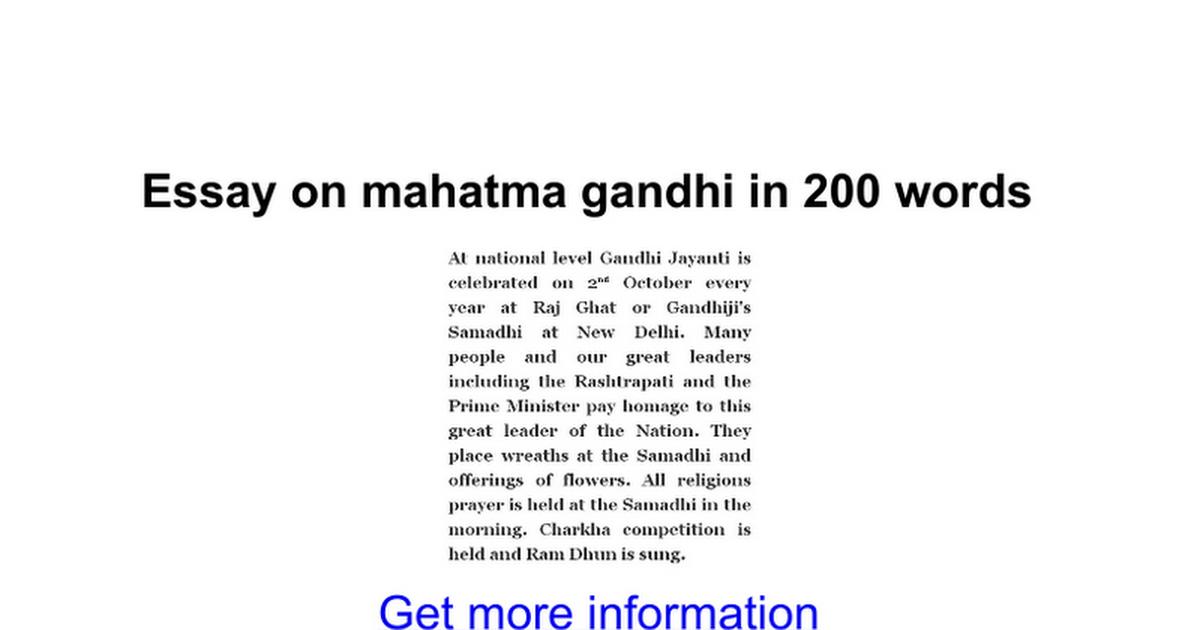 Short Essay On Mahatma Gandhi In English For Kids   Vision Professional