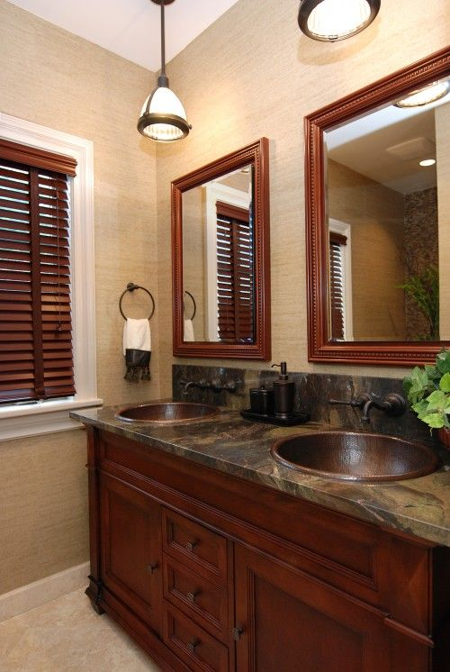 Love This Rich Look Copper Sinks With Images Traditional