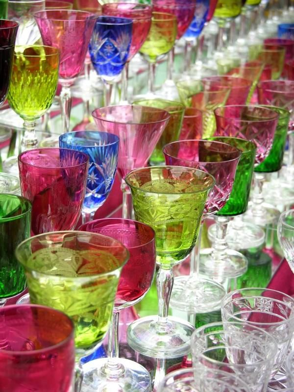 Identify Antique Glassware Be Aware Of Color Various Manufacturers Used Colors In Their Glassware But Rarely Did A Company Use Every Color In Every Pattern