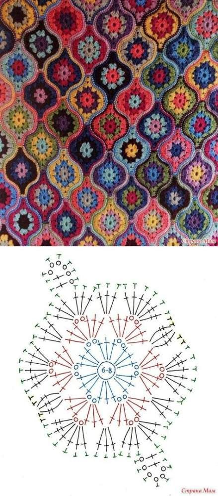 Trendy crochet granny square pattern diagram afghans 32 Ideas