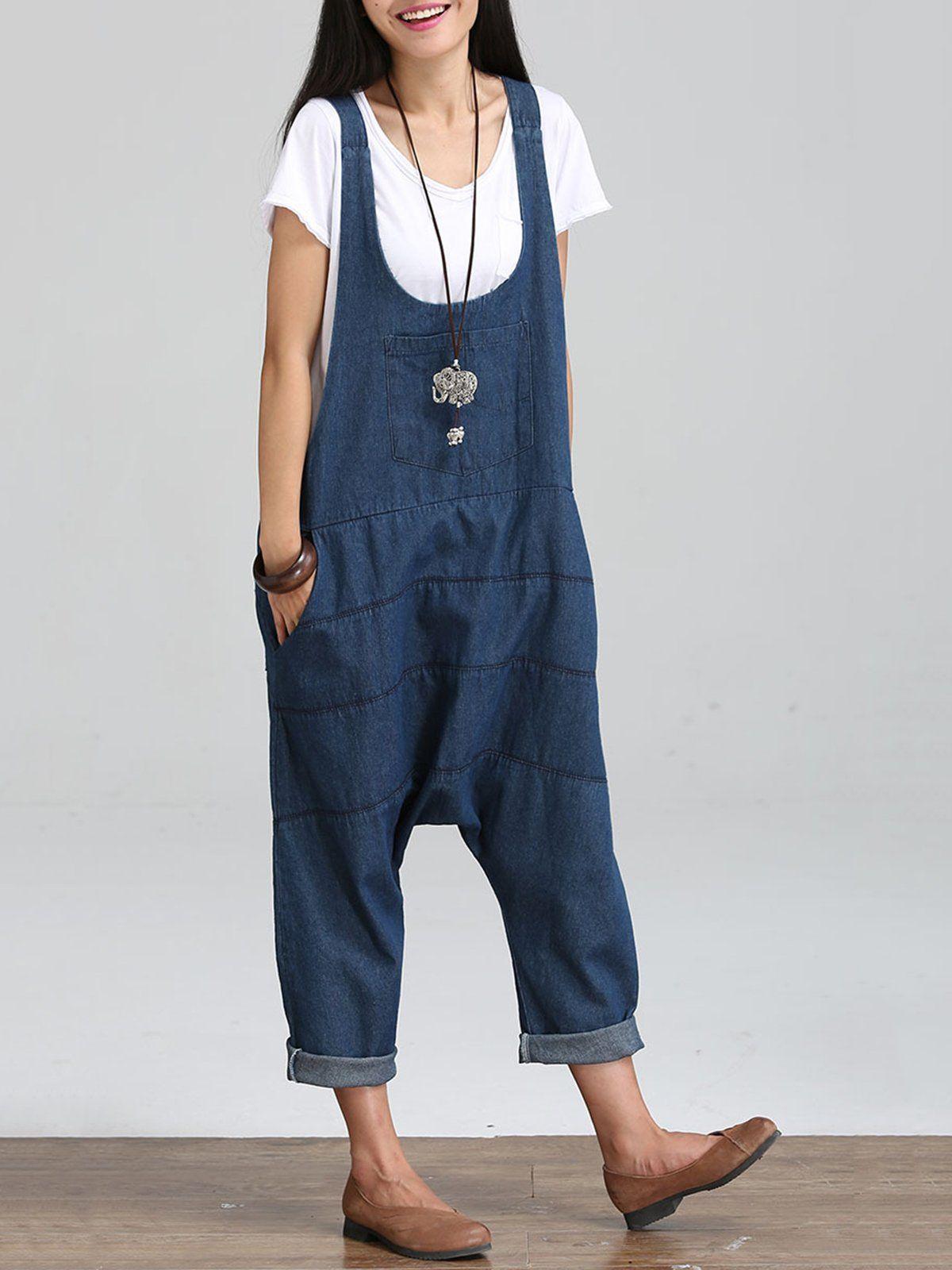 0f66b2da954 Sleeveless U-Neck Plain Casual Plus Size Jumpsuits – RosyMerry ...