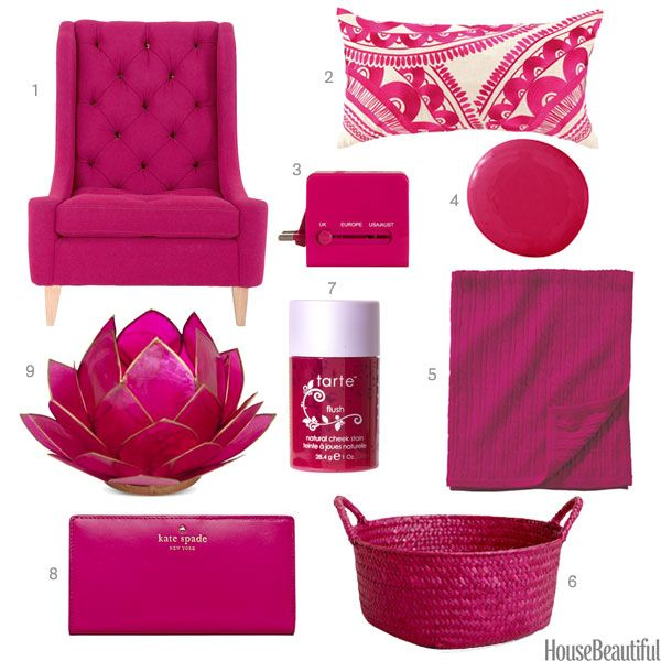 Color Of The Week Fuchsia Pink Decor Color Of The Week Fuchsia