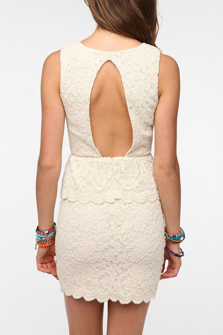 Pins and needles knit lace peplum dress urbanoutfitters i love open
