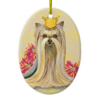 Yorkshire Terrier Christmas Ornament Yorkie Princess Yorky