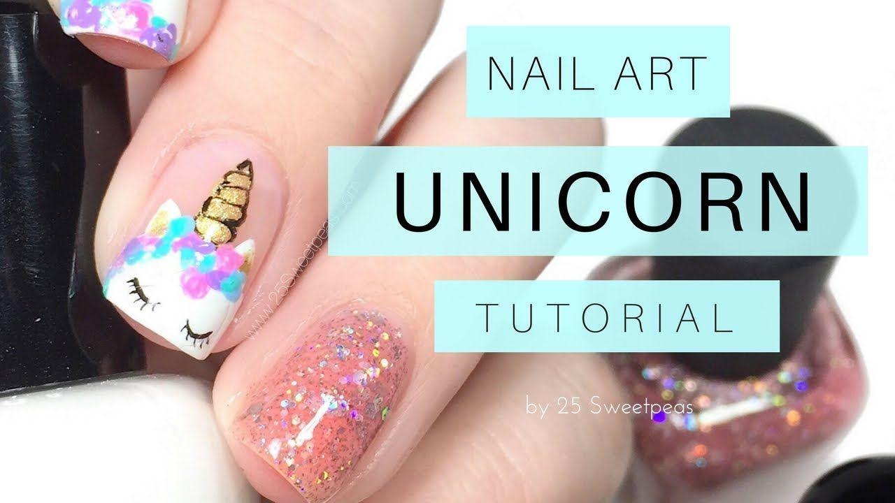 Easy Unicorn Nail Art Tutorial Youtube