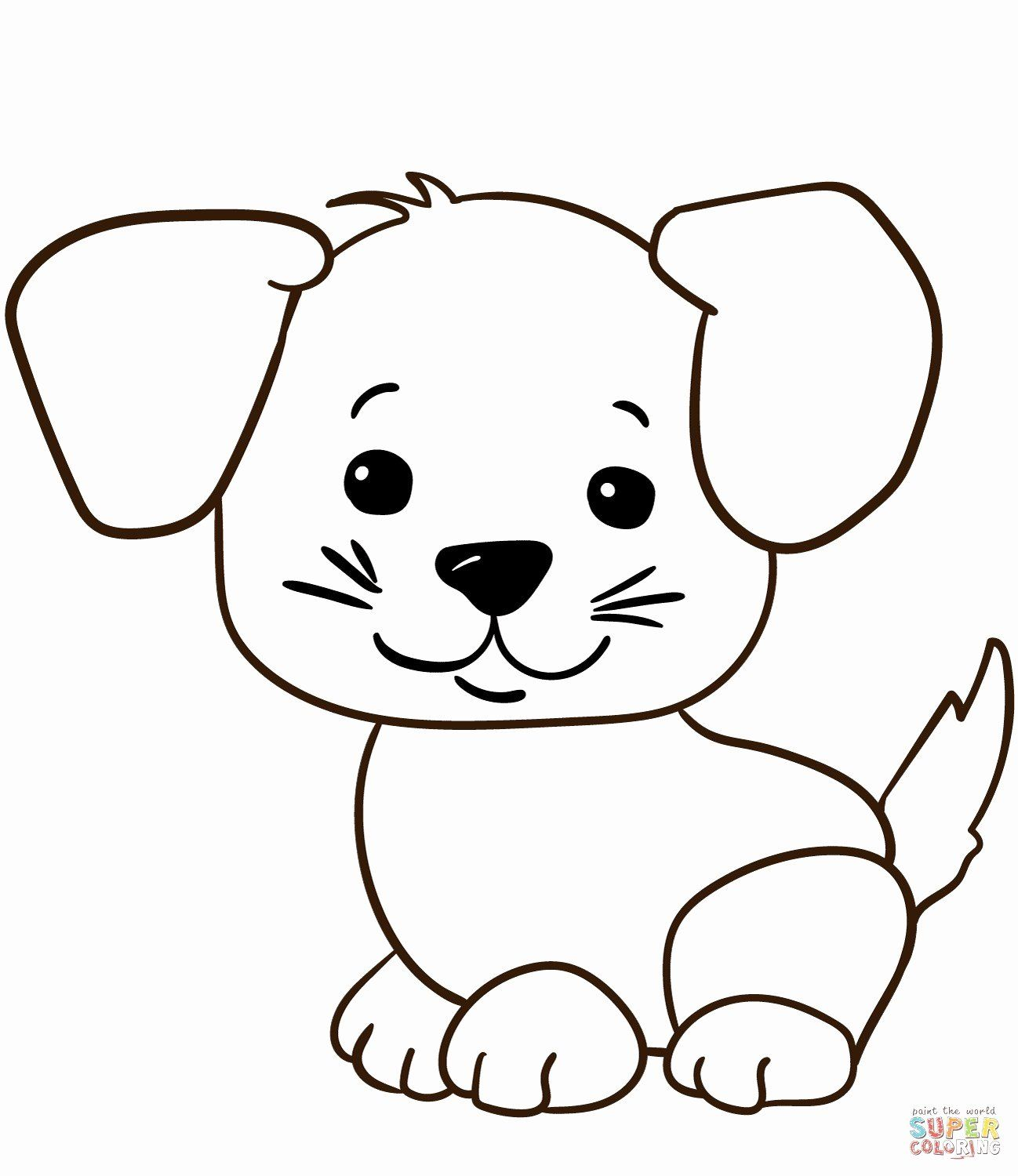 Adorable Animal Coloring Pages Unique Beautiful Cute Cartoon Puppy Coloring Pages Howtobeaweso In 2020 Puppy Coloring Pages Dog Coloring Page Animal Coloring Pages