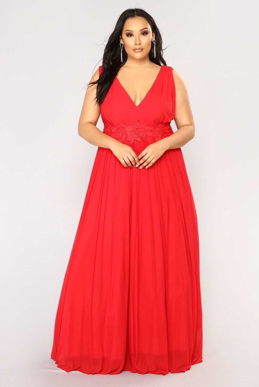 fe5474f6c Ingrid Maxi Dress - Red in 2019 | Curvy women | Dresses, Fashion, Red