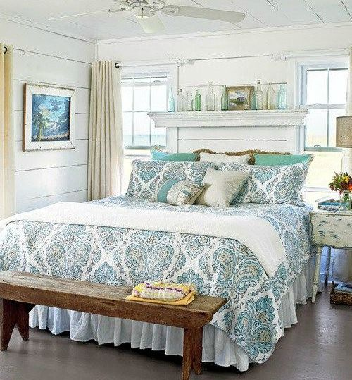 above the bed wall decor ideas with a coastal beach theme. Black Bedroom Furniture Sets. Home Design Ideas
