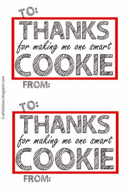 Craftibilities smart cookie thank you gift idea teacher craftibilities smart cookie thank you gift idea teacher appreciation free downloadable tag negle Choice Image