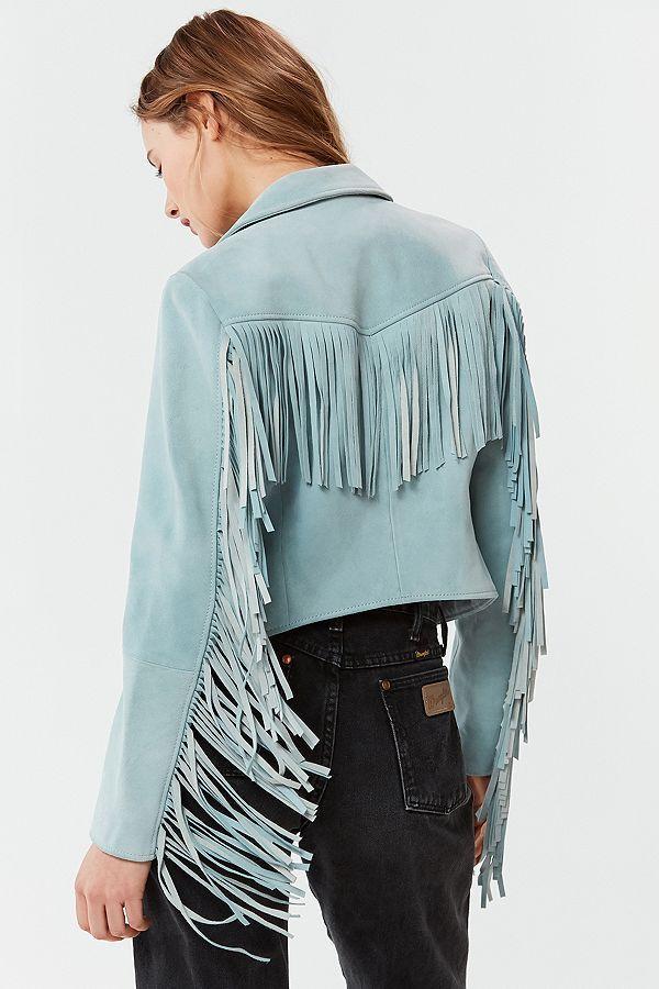 Fringe leather jacket - Festival Inspo