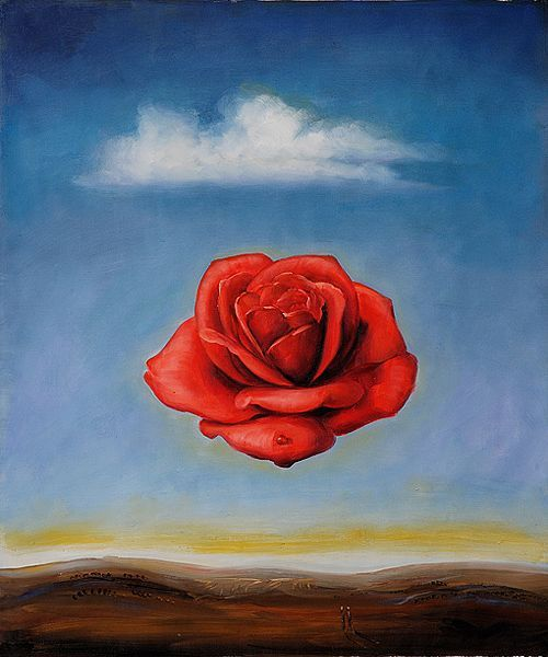 salvador dalí artist | The Meditative Rose by Salvador ...