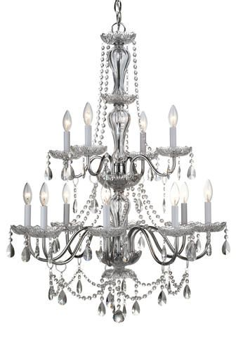 Luciana 12 light 395 chrome crystal chandelier at menards home luciana 12 light 395 chrome crystal chandelier at menards aloadofball Gallery