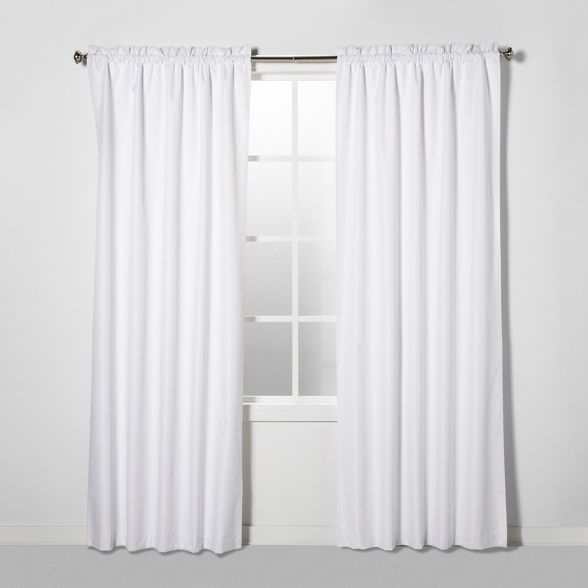 Braxton Thermaback Blackout Curtain Panel Eclipse In 2020 White Paneling Panel Curtains White Blackout Curtains