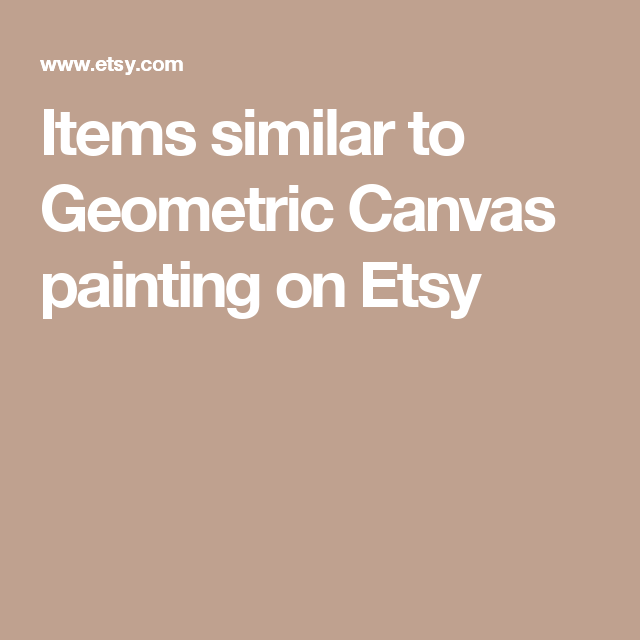 Items similar to Geometric Canvas painting on Etsy
