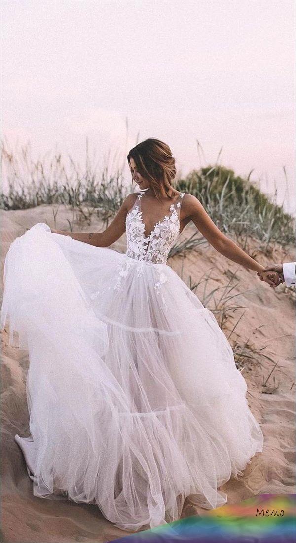 Nov 21, 2019 - Modest Tulle A-Line Rustic Wedding Dress.# ...